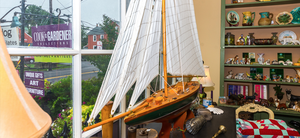 large model sailboat on display